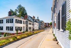 Historische Häuser in Plymouth, Massachusetts lizenzfreie stockfotos
