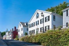 Historische Häuser in Plymouth, Massachusetts lizenzfreie stockfotografie