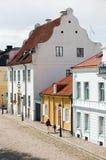 Historische Häuser Schweden-Kalmar stockbilder