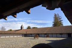 Historische Hacienda in de Itata-Vallei, Chili Stock Afbeeldingen