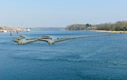 Historische haringenwaterkering Stock Fotografie