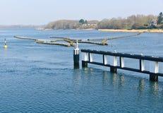 Historische haringenwaterkering Stock Foto's