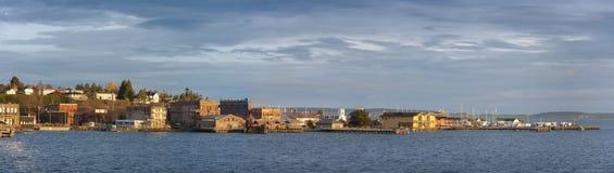 Historische Haven Townsend, Washington Waterfront bij Zonsopgang Stock Afbeeldingen