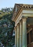 Historische het Gerechtsgebouwkolommen van Alabama van de Kalksteenprovincie stock afbeelding