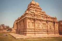 Historische hindische Tempel, Architekturmarkstein in Pattadakal, Indien Der meiste populäre Platz in Vietnam Lizenzfreie Stockfotos