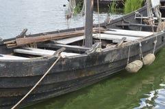 Historische houten boot Stock Afbeeldingen