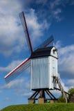 Historische Houten Windmolen in Brugge Brugge België Stock Afbeeldingen