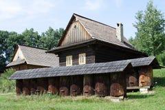Historische huizen Royalty-vrije Stock Foto's