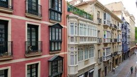 Historische huizen in Bilbao Royalty-vrije Stock Foto