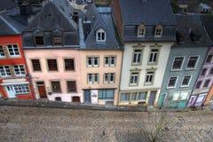 Historische huizen in de stad van Luxemburg Royalty-vrije Stock Afbeeldingen