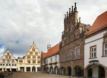 Historische huizen in Lemgo, Duitsland Royalty-vrije Stock Afbeelding