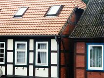 Historische Huizen in Nedersaksen royalty-vrije stock afbeeldingen