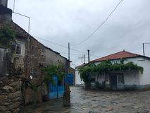 Historische huizen op de route van camino DE Santiago Royalty-vrije Stock Afbeelding