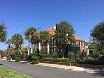 Historische Huizen op Murray Blvd, Charleston, Sc Stock Fotografie