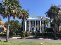 Historische Huizen op Murray Blvd, Charleston, Sc royalty-vrije stock afbeelding