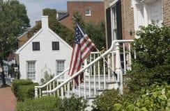 Historische Häuser in Frederick, Maryland. Stockbild