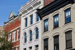 Historische im Stadtzentrum gelegene Gebäude, Lancaster, PA lizenzfreies stockfoto