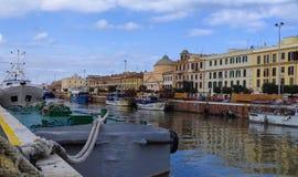 Historische Italiaanse stad Royalty-vrije Stock Afbeeldingen