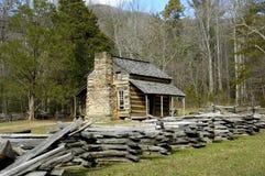 Historische John Oliver Cabin Stock Fotografie