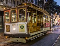 Historische Kabelwagen, lijn powell-Hyde op 17 Augustus, 2017 - San Francisco, Californië, CA Stock Fotografie