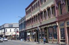 Historische Kai-Straße in Victoria stockbild