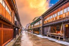 Historische Kanazawa, Japan stock afbeeldingen