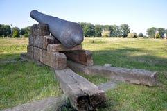 Historische Kanone rührte von Jahrhundert 17-18 her Lizenzfreies Stockfoto