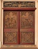 Historische kapeldeur royalty-vrije stock afbeeldingen