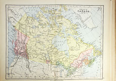 Historische Karte von Kanada Lizenzfreies Stockbild