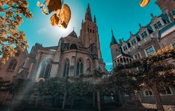 Historische kathedraal van Brugge stock foto