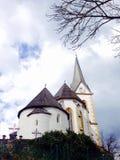 Historische kerk in Klagenfurt Stock Afbeeldingen
