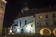 Historische kerk in nad Metuji van Nove Mesto Stock Foto's
