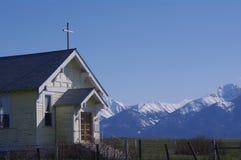 Historische Kerk, Opdrachtvallei, Montana royalty-vrije stock afbeelding