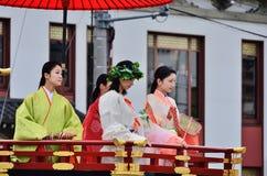 Historische Kimono kledende vrouwen, Kyoto Japan Royalty-vrije Stock Fotografie