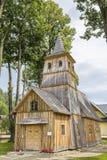 Historische Kirche des Heiligen Catherine in Sromowce Nizne, Polen stockfotografie