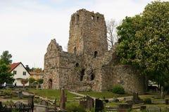 Historische Kirchenruinen in Sigtuna, Schweden Lizenzfreies Stockfoto