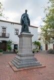 Historische Kunst, die als Aalmoezenier Billini, in de koloniale stad van Santo Domingo wordt bekend stock fotografie