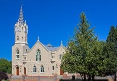 Historische ländliche Afrikaanskirche in Südafrika Lizenzfreie Stockfotos