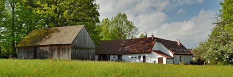 Historische ländliche Gebäude Lizenzfreies Stockfoto