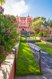 Historische Landhaus Victoria-Gärten La Orotava stockfotografie