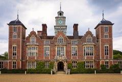 Historische Landhausvilla in England Lizenzfreie Stockfotos