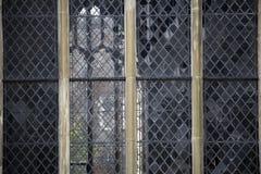 Historische leaded vensters royalty-vrije stock foto's
