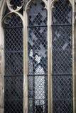 Historische leaded vensters stock foto's