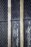 Historische leaded vensters stock foto