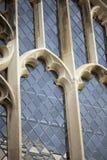 Historische leaded vensters stock afbeelding
