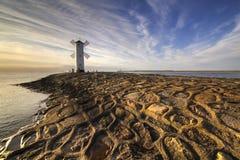 Historische Leuchtturmwindmühle Stawa Mlyny, Swinoujscie, Polen Lizenzfreie Stockfotografie