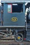 Historische locomotief De Nationale Spoorwegen van Zimbabwe Victoria Falls, Zimbabwe Afrika stock foto's
