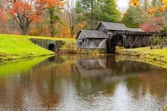 Historische Mabry-Mühle in Virginia stockfotos