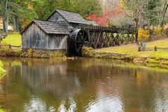 Historische Mabry-Mühle in Virginia stockfotografie