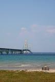 Historische Mackinac Brücke Stockfoto